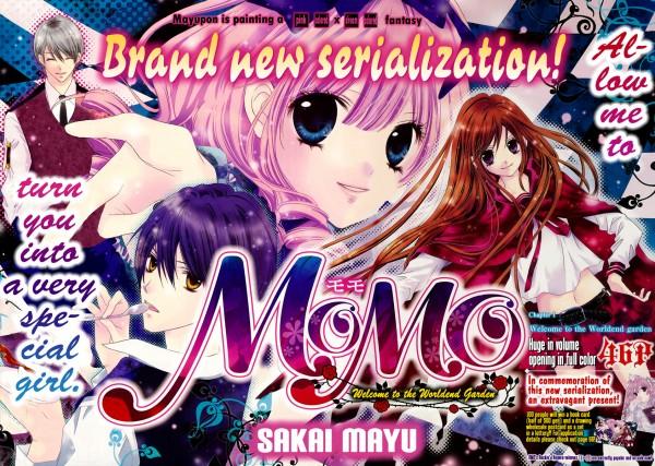 Tags: Anime, Sakai Mayu, MOMO - Shuumatsu Teien e Youkoso, Nanagi, Momo (MOMO - Shuumatsu Teien), Sanari, Odagiri Yume, Official Art, Manga Page, Scan