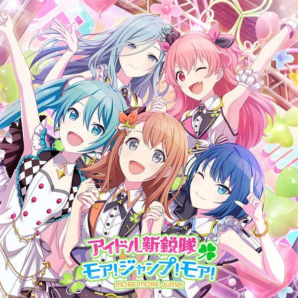 Tags: Anime, Colorful Palette, Project Sekai Colorful Stage! feat. Hatsune Miku, Momoi Airi, Kiritani Haruka, Hanasato Minori, Hatsune Miku, Hinomori Shizuku, Official Art, CD (Source), MORE MORE JUMP!