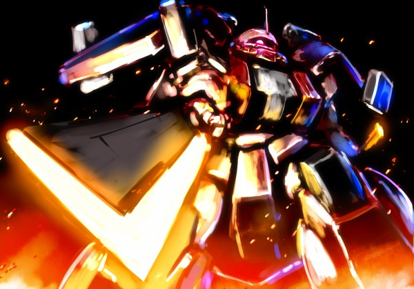 Tags: Anime, Banchengping@126, Gundam Build Fighters, MS-06R-AB Zaku Amazing, Fanart From Pixiv, Pixiv, Fanart