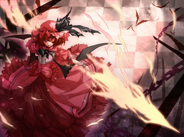 Tags: Anime, NYE, MUGEN, Remilia Scarlet, Spear the Gungnir, Pixiv, Fanart, Fanart From Pixiv