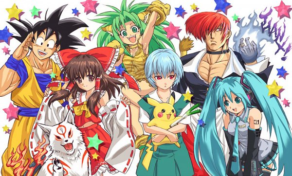 Tags: Anime, Capcom, DRAGON BALL, Neon Genesis Evangelion, Samurai Spirits, MUGEN, The King of Fighters, Okami, Pokémon, Touhou, DRAGON BALL Z, VOCALOID, Pikachu