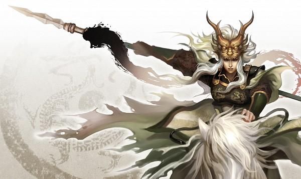 Tags: Anime, Pixiv Id 1417939, Dynasty Warriors, Ma Chao, Horseback Riding, Wallpaper, Fanart, Pixiv