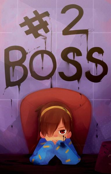 Tags: Anime, Ishot-u, Gravity Falls, Mabel Pines, Gendou Pose, Neon Genesis Evangelion (Parody), Fanart From DeviantART, Mobile Wallpaper, deviantART, Fanart
