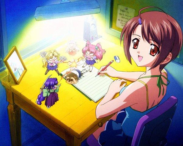 Tags: Anime, Maburaho, Miyama Yuuna, Kazuki Shikimori, Kazetsubaki Kuriko, Yamase Chihaya, Kamishiro Rin, Elizabeth (Maburaho), Bulletin Board, Eraser, Official Art