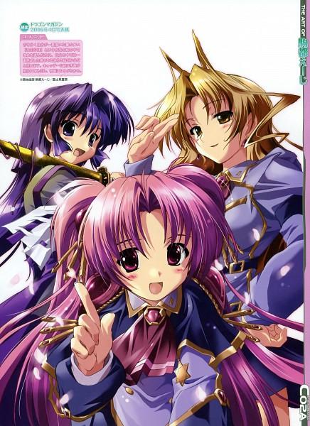Tags: Anime, Komatsu Eji, Maburaho, Dengeki Moeoh 2010-04, Kamishiro Rin, Miyama Yuuna, Kazetsubaki Kuriko, Dengeki Moeoh