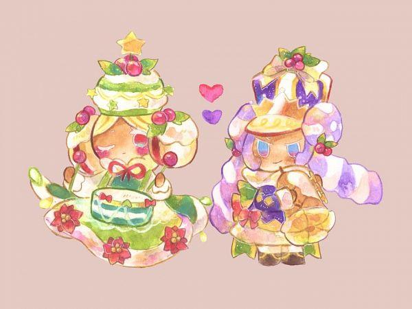 Tags: Anime, Syuragi, Cookie Run: OvenBreak, Cookie Run, Marshmallow Cookie, Marshmallow Cookie (Merry Year's End March), Macaron Cookie (Festive Year's End Parade), Macaron Cookie, Twitter, Fanart, MacaMallow