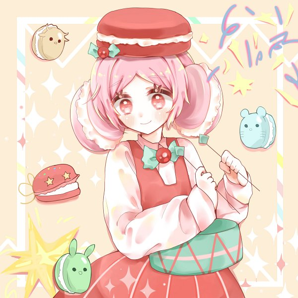 Tags: Anime, Pixiv Id 21729480, Cookie Run, Macaron Cookie, Castanets (Cookie Run), Castanets, Drumsticks, Pixiv, Fanart, Fanart From Pixiv