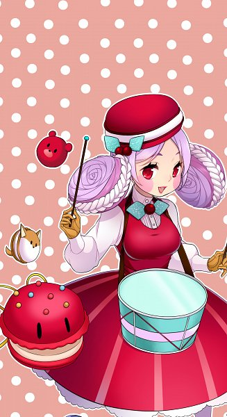 Tags: Anime, YuuAbyss, Cookie Run, Macaron Cookie, Castanets (Cookie Run), Drumsticks, Castanets, Pixiv, Fanart, Fanart From Pixiv