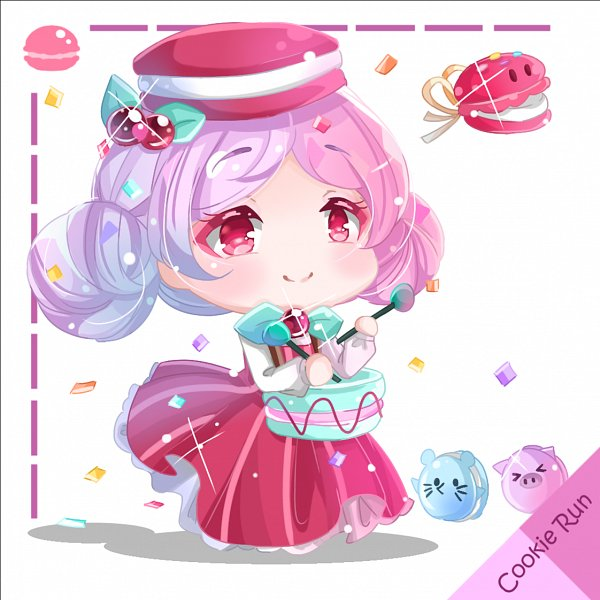 Tags: Anime, Pixiv Id 11982709, Cookie Run, Castanets (Cookie Run), Macaron Cookie, Drumsticks, Castanets, Fanart From Pixiv, Pixiv, Fanart