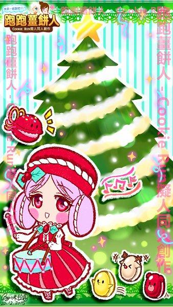 Tags: Anime, Mirara122, Cookie Run, Castanets (Cookie Run), Macaron Cookie, Drumsticks, Castanets, Fanart, Fanart From Pixiv, Pixiv