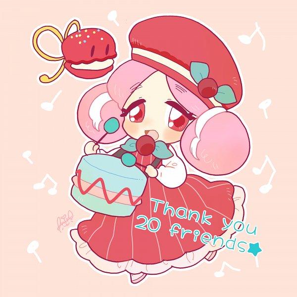 Tags: Anime, Shir0, Cookie Run, Macaron Cookie, Castanets (Cookie Run), Drumsticks, Castanets, Pixiv, Fanart, Fanart From Pixiv