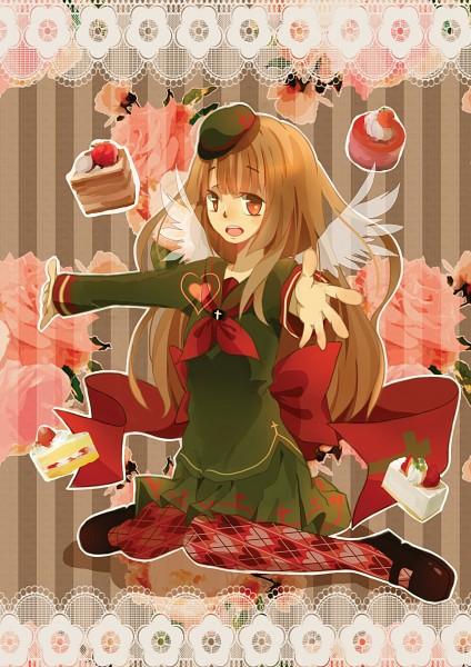 Tags: Anime, Pixiv Id 7396489, Gray Garden, Macarona, Heart Print, Small Wings, Transparent Wings, Strawberry Shortcake, Fanart, Fanart From Pixiv, Pixiv