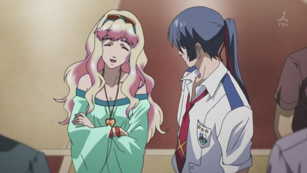 Tags: Anime, Macross Frontier, Saotome Alto, Sheryl Nome, Screenshot