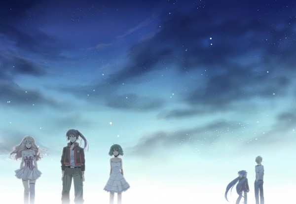 Tags: Anime, Gen (Enji), Macross Frontier, Saotome Alto, Sheryl Nome, Mikhail Blanc, Ranka Lee, Klan Klang, Pixiv, Fanart