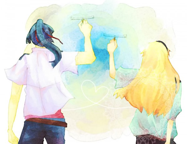 Tags: Anime, Macross Frontier, Sheryl Nome, Saotome Alto, Traditional Media