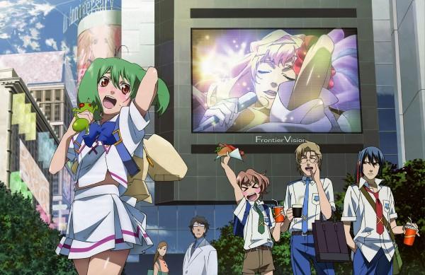 Tags: Anime, Macross Frontier, Mikhail Blanc, Saotome Alto, Sheryl Nome, Ranka Lee, Luca Angelloni