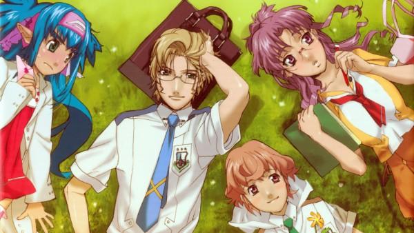 Tags: Anime, Macross Frontier, Matsuura Nanase, Luca Angelloni, Mikhail Blanc, Klan Klang, Wallpaper, HD Wallpaper