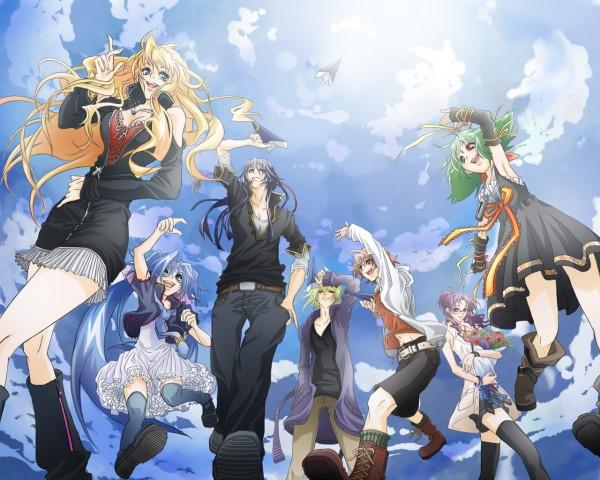 Tags: Anime, Macross Frontier, Sheryl Nome, Luca Angelloni, Ranka Lee, Klan Klang, Brera Sterne, Saotome Alto, Matsuura Nanase, Artist Request