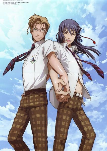Tags: Anime, Macross Frontier, Mikhail Blanc, Saotome Alto, Mobile Wallpaper