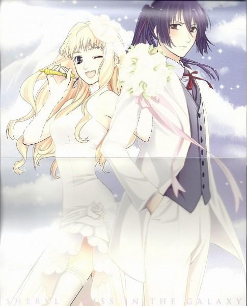Tags: Anime, Macross Frontier, Saotome Alto, Sheryl Nome, Official Art
