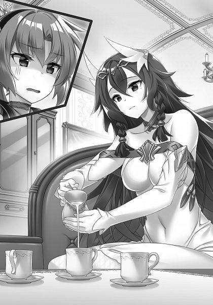 Tags: Anime, Miyatsuki Itsuka, Madan no Ou to Vanadis, Madan no Ou to Michelia, Ludmila Lurie, Novel Illustration, Official Art, Character Request