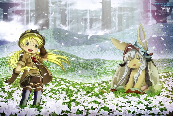 Tags: Anime, Sakimoto Sayuri, Kinema Citrus, Made in Abyss, Made In Abyss: Fukaki Tamashii no Reimei, Nanachi (Made in Abyss), Rico (Made in Abyss), Newtype Magazine (Source), Scan, Official Art, Magazine (Source)