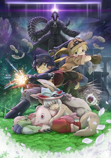 Tags: Anime, Kise Kazuchika, Kinema Citrus, Made in Abyss, Made in Abyss: Hourou Suru Tasogare, Regu (Made in Abyss), Bondrewd, Mitty (Made in Abyss), Nanachi (Made in Abyss), Rico (Made in Abyss), Official Art, Cover Image, Key Visual