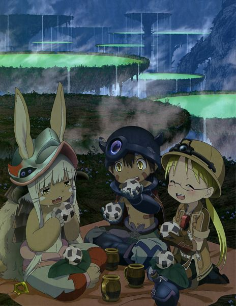 Tags: Anime, Kinema Citrus, Made in Abyss, Made in Abyss: Hourou Suru Tasogare, Regu (Made in Abyss), Nanachi (Made in Abyss), Rico (Made in Abyss), Official Art, Scan