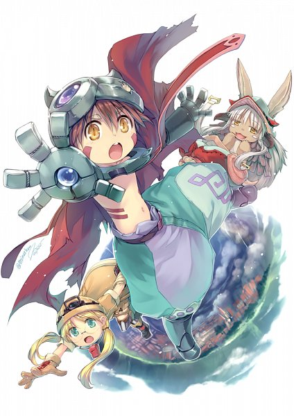 Tags: Anime, Hiiro Yuki, Made in Abyss, Regu (Made in Abyss), Nanachi (Made in Abyss), Rico (Made in Abyss), Fanart, Fanart From Pixiv, Pixiv