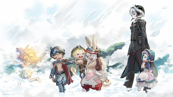 Tags: Anime, Janemere, Made in Abyss, Regu (Made in Abyss), Ouzen (Made in Abyss), Maruruk (Made in Abyss), Nanachi (Made in Abyss), Mitty (Human), Rico (Made in Abyss), Mitty (Made in Abyss), Wallpaper, Fanart, Fanart From Pixiv