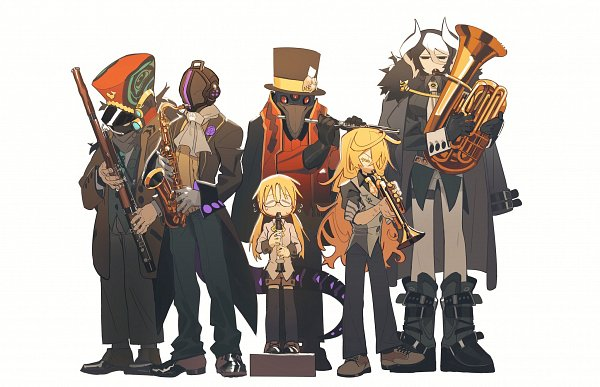 Tags: Anime, Pixiv Id 5927596, Made in Abyss, Ouzen (Made in Abyss), Srajo, Rico (Made in Abyss), Wakuna, Bondrewd, Lyza (Made in Abyss), Trumpet, Saxophone, Orchestra, Flute