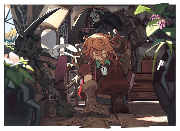 Tags: Anime, Pixiv Id 5927596, Made in Abyss, Lyza (Made in Abyss), Ouzen (Made in Abyss), Twitter, Fanart, White Whistles