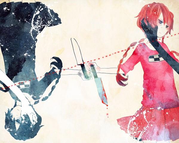 Tags: Anime, Suzuen, Yume Nikki, Madotsuki, Opposites, Symmetry, Blood On Weapons, Pixiv