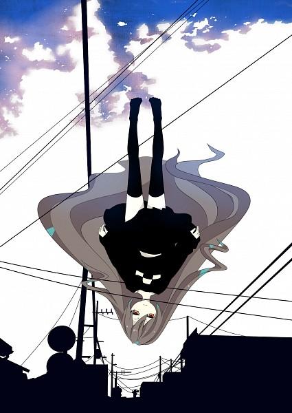 Tags: Anime, Pixiv Id 3308557, Yume Nikki, Madotsuki, Mobile Wallpaper, Pixiv, Fanart, Fanart From Pixiv