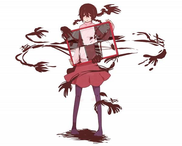 Tags: Anime, 6274 (Artist), Yume Nikki, Madotsuki, Stained Glass, PNG Conversion, Fanart, Pixiv, Fanart From Pixiv