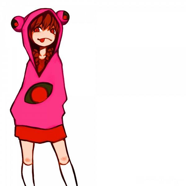 Tags: Anime, Pixiv Id 6202628, Yume Nikki, Madotsuki, Frog Hood, Pink Hoodie, PNG Conversion, Fanart, Fanart From Pixiv, Pixiv
