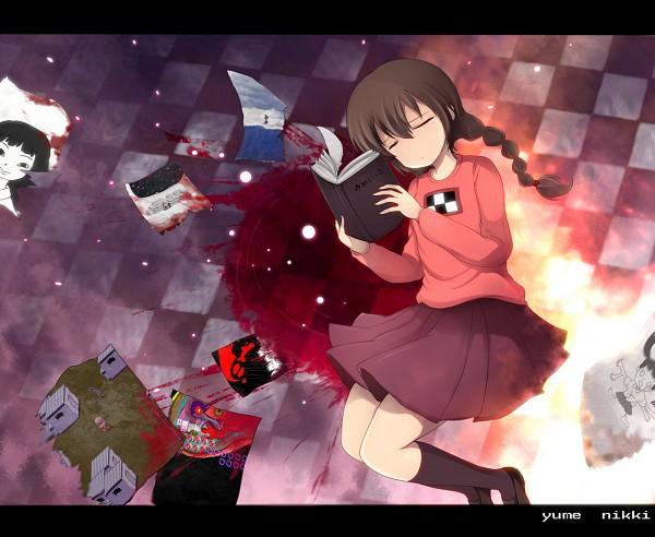 Tags: Anime, Xjr1250, Yume Nikki, Madotsuki, Sekomumasada Sensei, Monoko, Monoe, Pirori, Pixiv, CG Art, Fanart