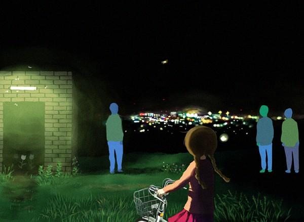 Tags: Anime, Giba-ryan, Yume Nikki, Madotsuki, Faceless, Hill, Fanart From Pixiv, Pixiv, Fanart