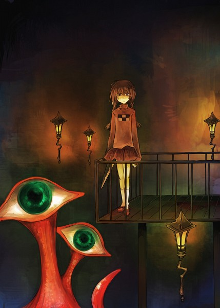 Tags: Anime, Fushiwara Aki, Yume Nikki, Madotsuki, Dock, Surreal, Mobile Wallpaper