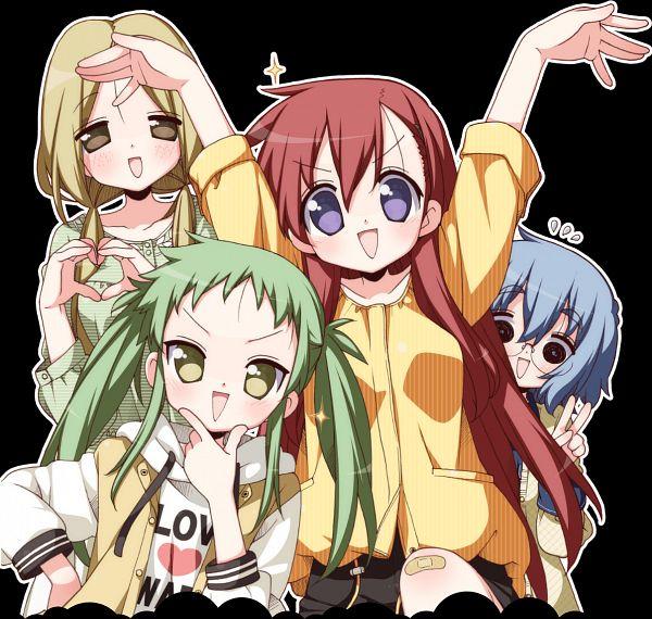 Tags: Anime, Yoshimizu Kagami, Studio Gokumi, AXsiZ, Maesetsu!, Kogarashi Mafuyu, Kitakaze Fubuki, Asougi Nayuta, Araya Rin, Official Art, Key Visual