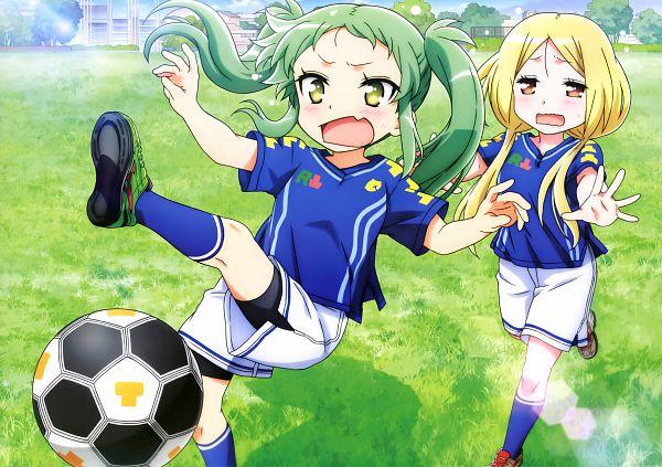 Tags: Anime, Studio Gokumi, AXsiZ, Maesetsu!, Asougi Nayuta, Araya Rin, Official Art, Scan