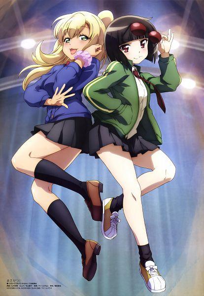 Tags: Anime, Studio Gokumi, AXsiZ, Maesetsu!, Kusaba Eru, Waraino Arashi, Official Art, Scan