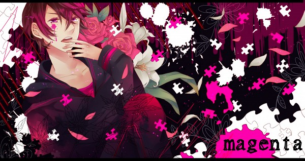 Tags: Anime, Wata14, Nano (Nico Nico Singer), Heartbeat, Black Hoodie, Dripping, Finger In Mouth, Puzzle Piece, Purple Pants, Fanart, Facebook Cover, PNG Conversion, Nico Nico Singer