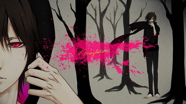 Tags: Anime, Monqkq, Nano (Nico Nico Singer), Black Hoodie, Magenta, Fanart, HD Wallpaper, Facebook Cover, Nico Nico Singer, Pixiv, Wallpaper
