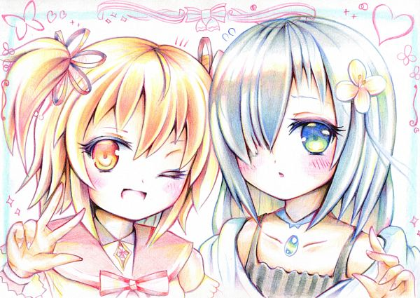 Tags: Anime, Pixiv Id 3824574, Magia Record: Mahou Shoujo Madoka☆Magica Gaiden, Ayano Rika, Isuzu Ren