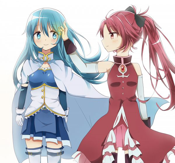 Tags: Anime, oto1008, Magia Record: Mahou Shoujo Madoka☆Magica Gaiden, Miki Sayaka, Sakura Kyouko, Pixiv, Fanart, Fanart From Pixiv