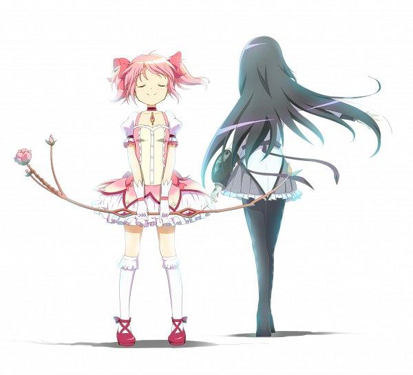 Tags: Anime, Sachishiro Pengin, Magia Record: Mahou Shoujo Madoka☆Magica Gaiden, Kaname Madoka, Akemi Homura, Fanart From Pixiv, Pixiv, Fanart
