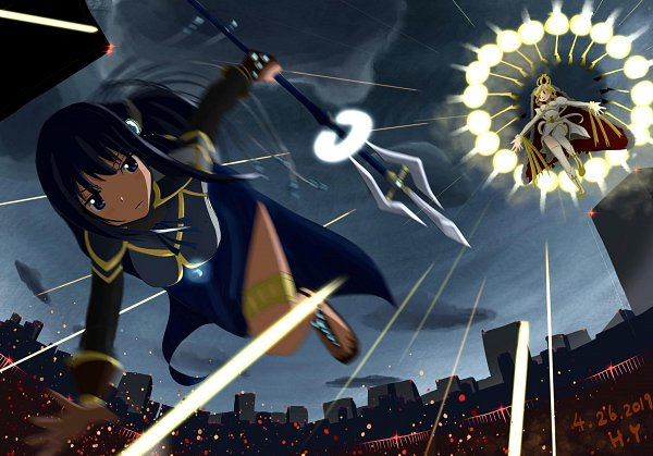 Tags: Anime, Pixiv Id 39355166, Magia Record: Mahou Shoujo Madoka☆Magica Gaiden, Tomoe Mami, Holy Mami, Nanami Yachiyo, Fanart From Pixiv, Pixiv, Fanart