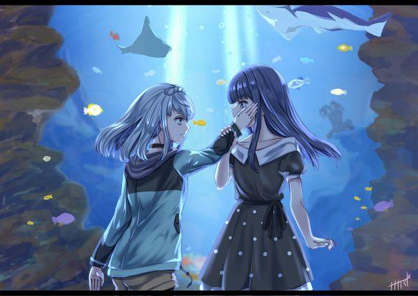 Tags: Anime, Pixiv Id 30102330, Magia Record: Mahou Shoujo Madoka☆Magica Gaiden, Kagami Masara, Nanami Yachiyo, Fanart, Fanart From Pixiv, Pixiv