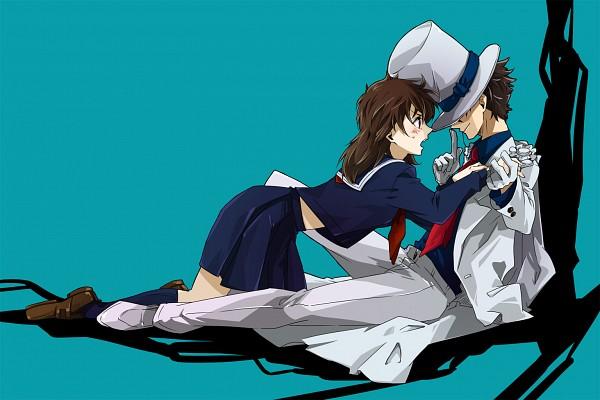 Tags: Anime, Feeline Isi, Magic Kaito, Nakamori Aoko, Kuroba Kaito, Fanart